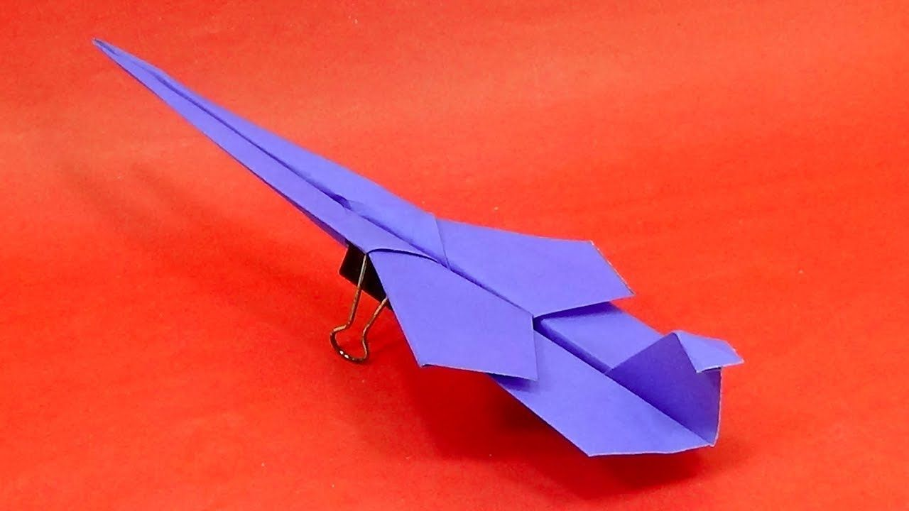 How To Make an F15 Paper Airplane DIY Paper Origami Jet