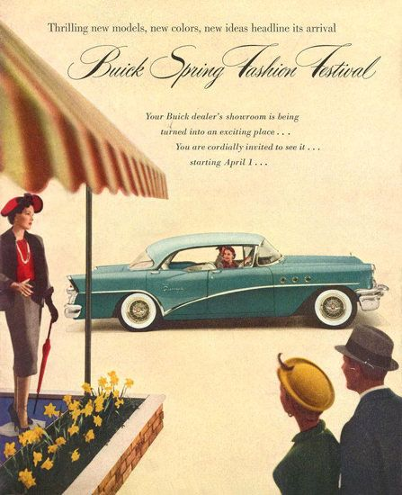 Buick Spring Fashion Festival 1955 - Mad Men Art: The 1891-1970 Vintage Advertisement Art Collection