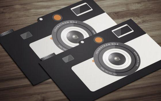 8 templates de cartao de visitas para fotografos gratis for Free photography business card template