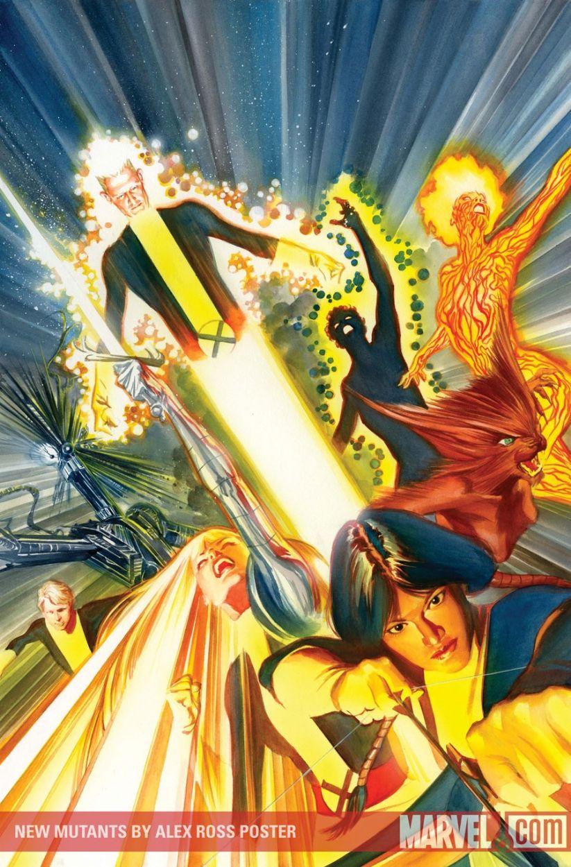 Alex Ross--New Mutants Omnibus cover Comic Art
