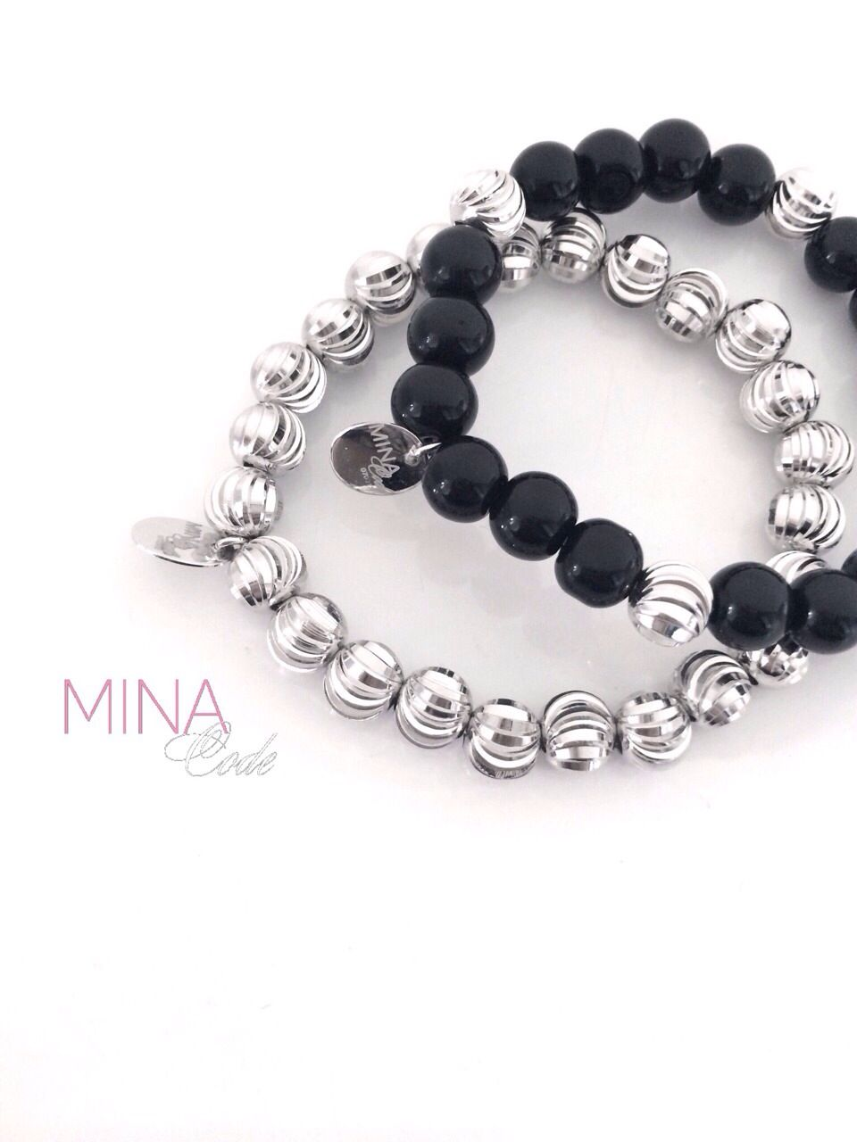 Onyx and White Gold bracelet by Mina Code