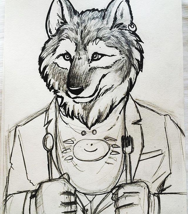 A Sillier Wolf In Progress Wolf Wolfman Werewolf Beast Yummy