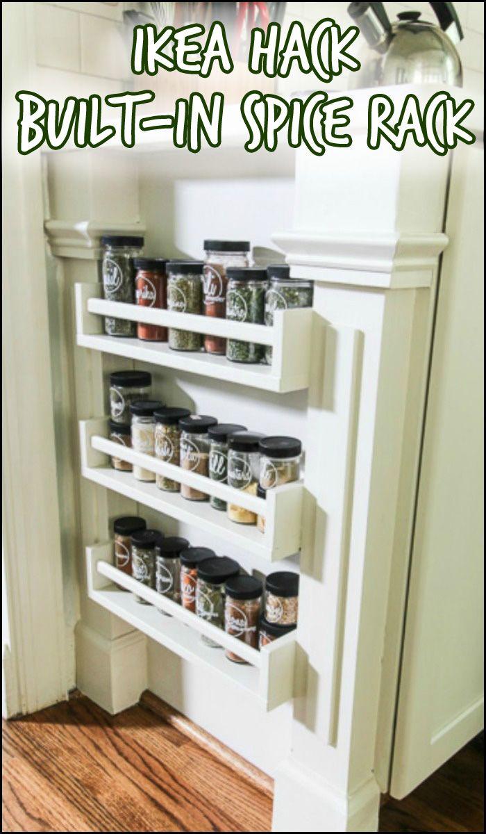 Ikea Hack Built-in Spice Rack | Clever storage ideas, Storage ideas ...