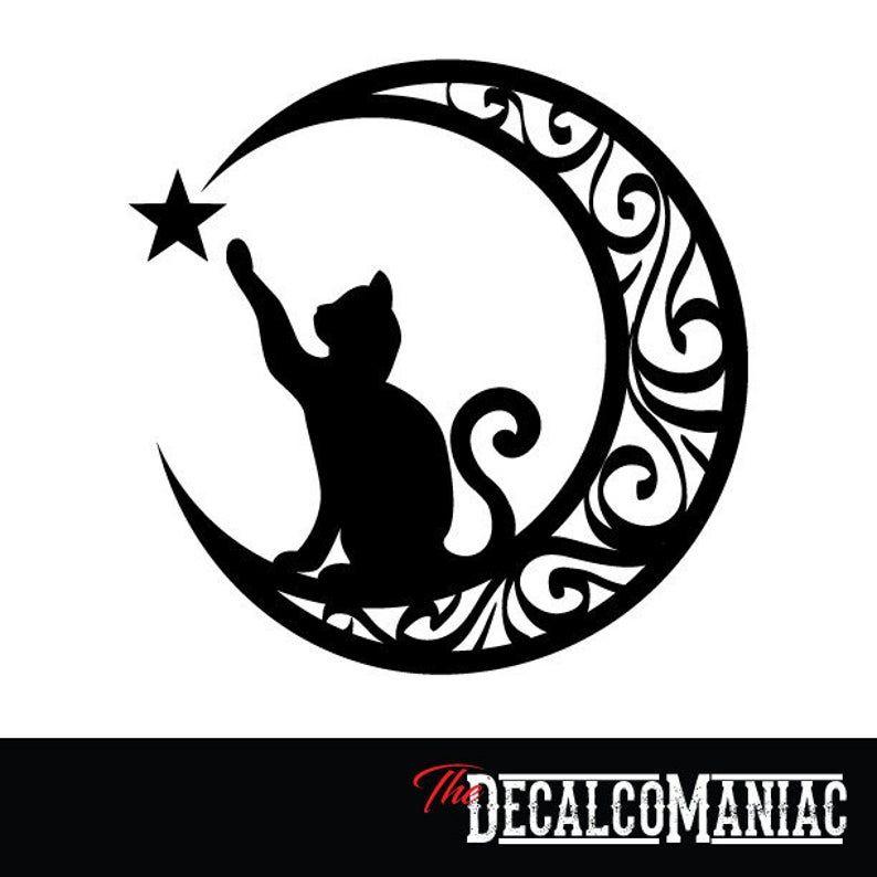 "Cats Celtic Circle Design car bumper sticker decal 5/"""