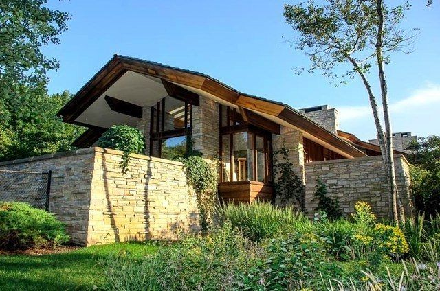 Fay Jones Laid Out This Prairie Home In Barrington Hills Shortly Before His  Death In