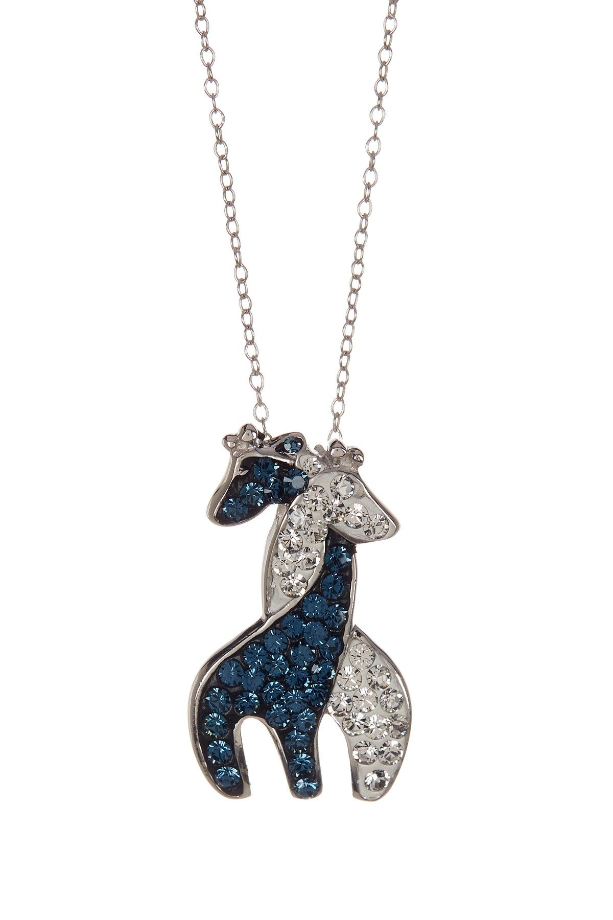 sterling from stand giraffe necklace silver shown crowd chain pendant the charm out model on