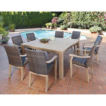 High Quality Hilo 100% FSC Certified Teak 9 Piece Dining Set