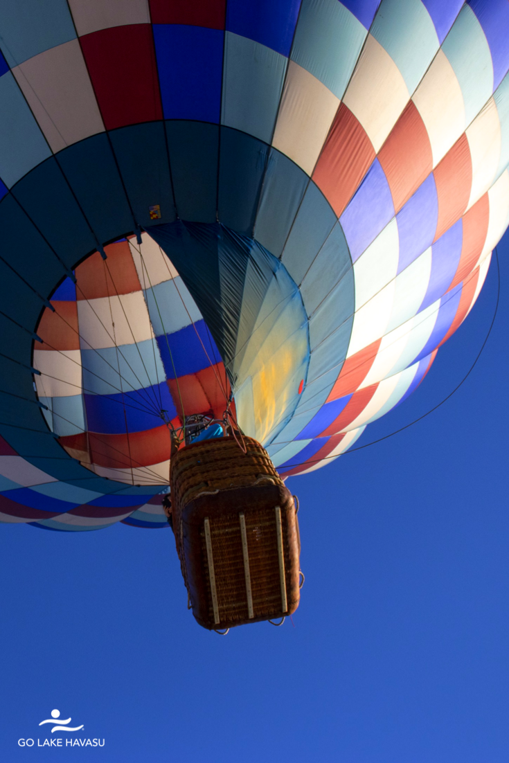 Hot air balloons dot the sky with color for the Annual