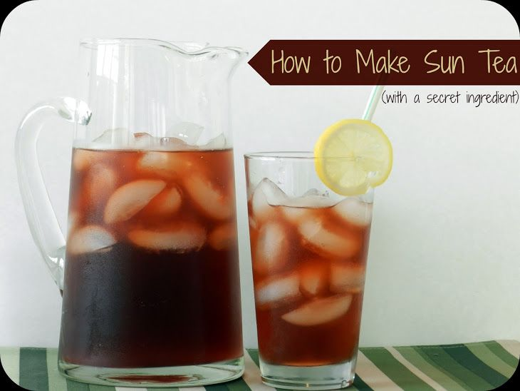 How To Make Sun Tea With A Secret Ing Recipe Drink Pinterest Coconut Sugar Baking Soda And Teas