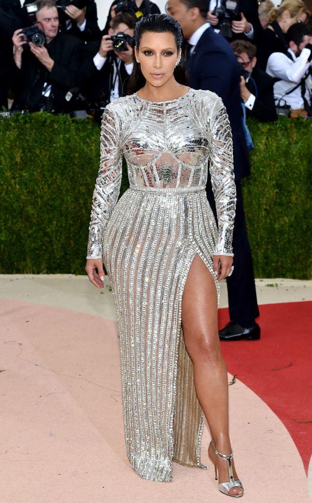 d839ac26f43 Kim Kardashian from Met Gala 2016  Red Carpet Arrivals In Balmain