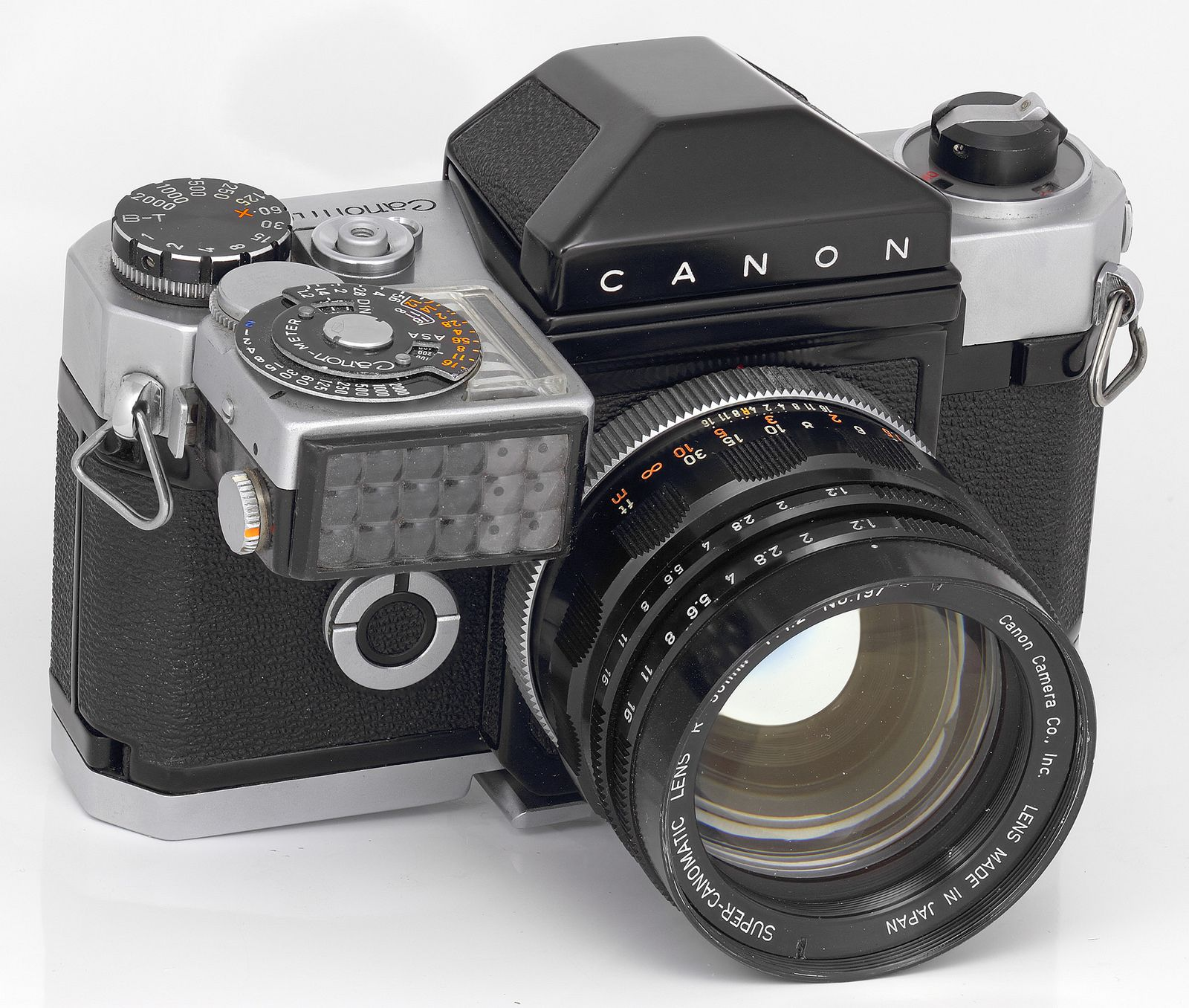 зеркальная пленочная японская фотокамера женщина