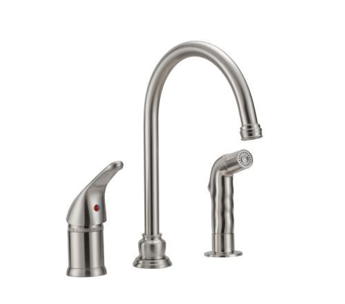 Rv Kitchen Faucet W Sprayer Single Lever Handle Brushed