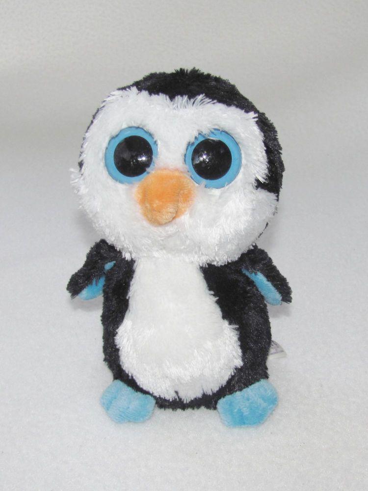 a2ef507eae1 Ty Beanie Boo Waddles Penguin Original Blue Eyes 2012 Plush Boos Doll Toy  6