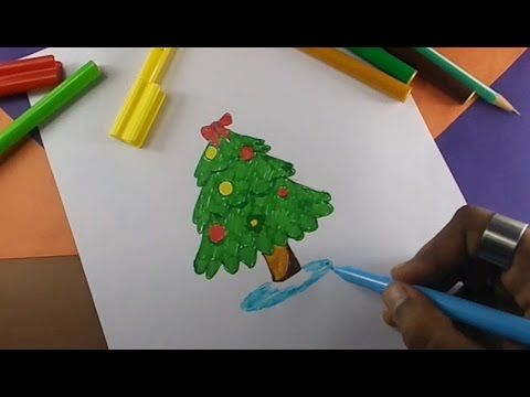 Hi Kids In This Video You Will See How To Draw Christmas Tree Children S Drawing Practice Video Le Christmas Tree Drawing Drawing For Kids Childrens Drawings