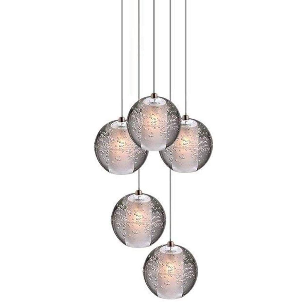 Led Moderne Lampe Suspension K9 Boule De Cristal Lampe Suspendue Hauteur Réglable For Lustre Salon Table à Manger Lampe Suspendue Lampe Suspension Plafonnier