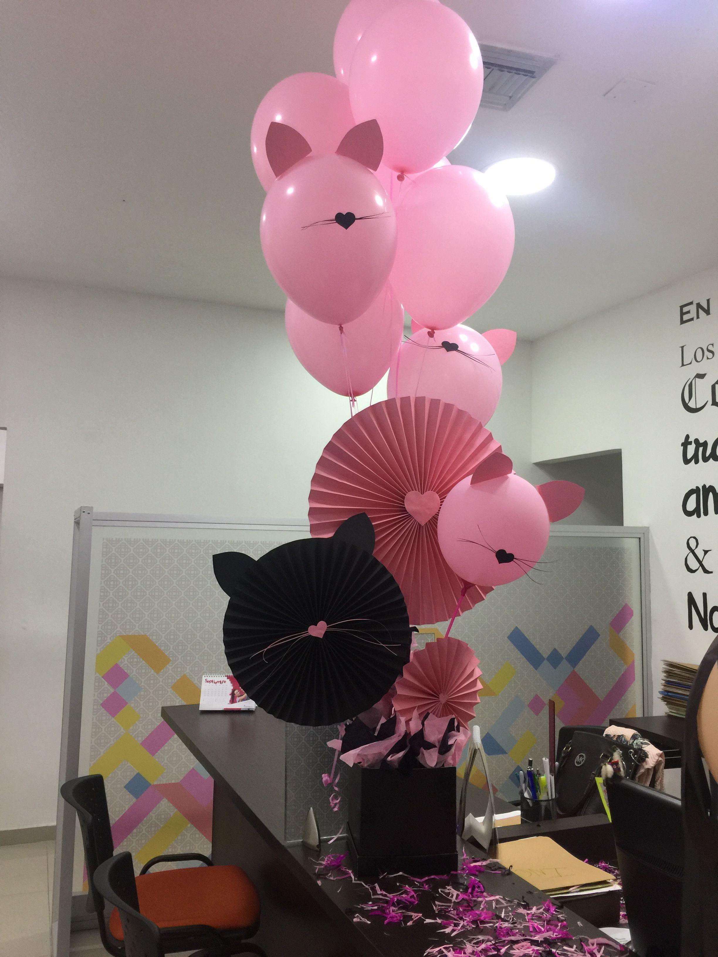 Centro de mesa cumplea os decoraci n gatitos ideas - Decoracion mesa cumpleanos ...