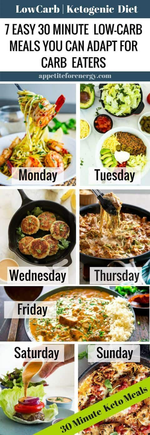 7 Day 30-Minute Keto Meal Plan You Can Adapt For Carb Eaters images