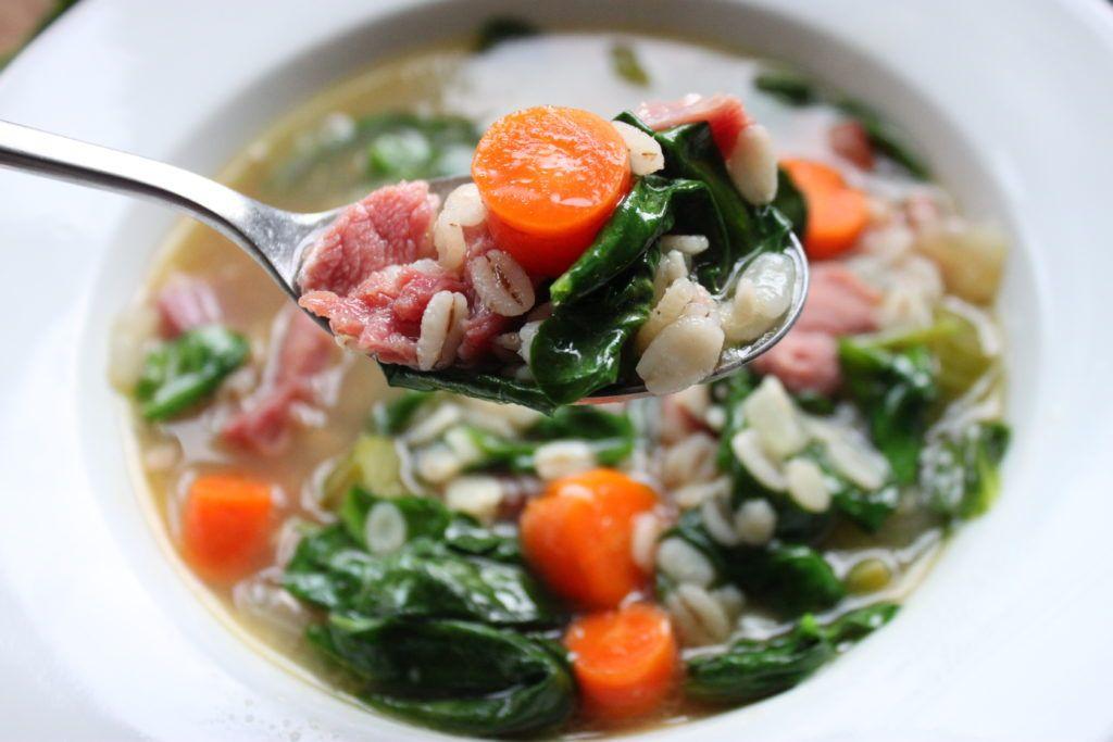 Healthy Ham and Barley Soup Recipe Healthy ham