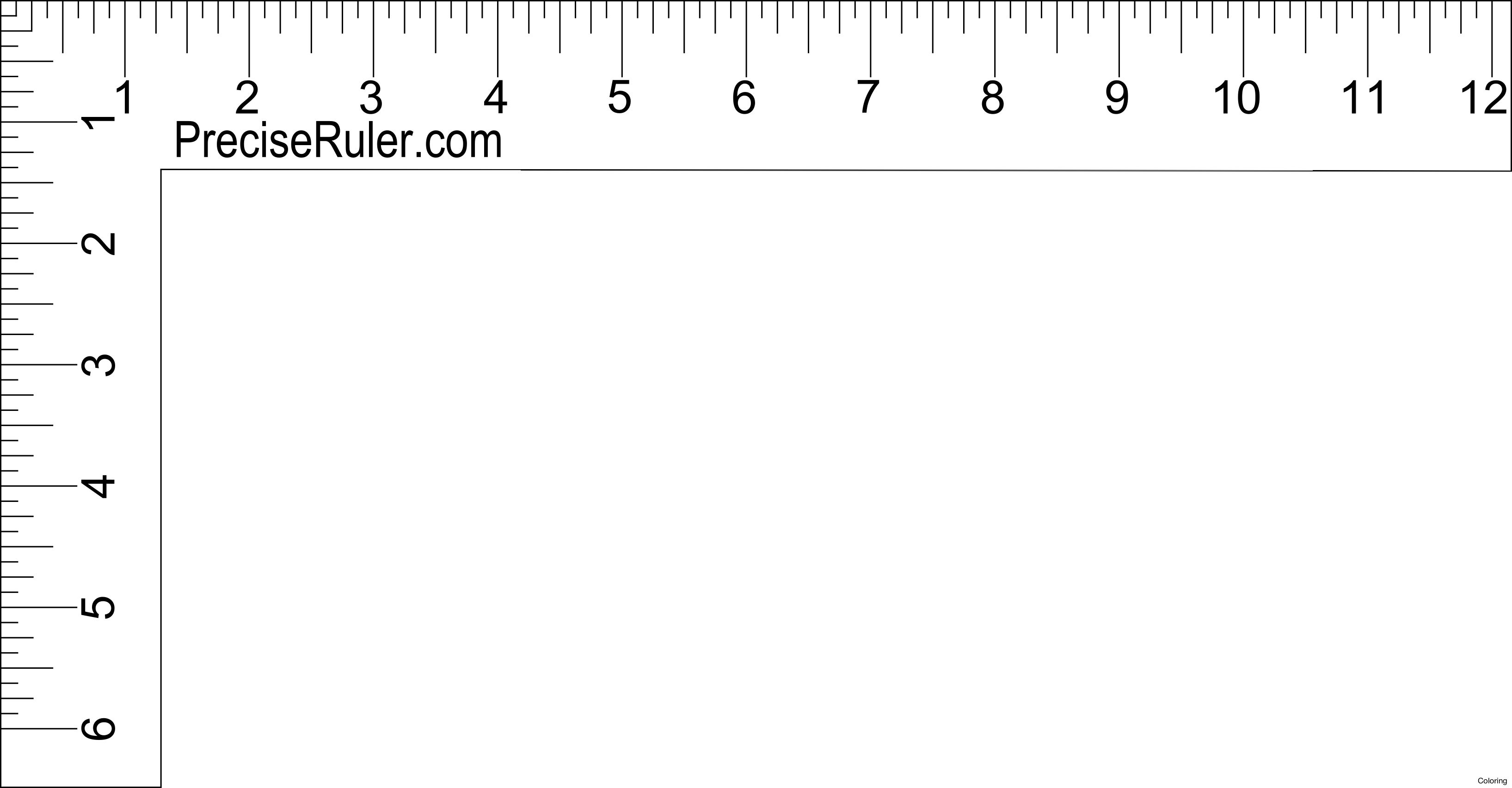 12 Inch Ruler Clipart Black And White With Images
