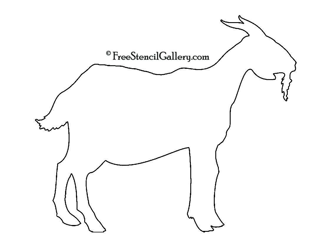 Goat Silhouette Stencil Stencils Pinterest Goats