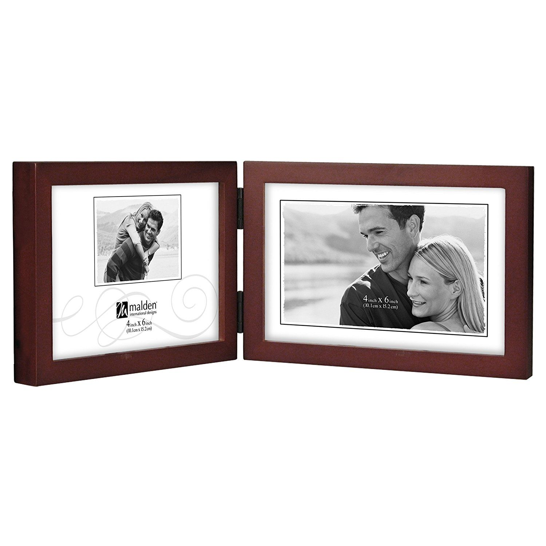 Malden International Designs Dark Walnut Concept Wood Picture Frame ...