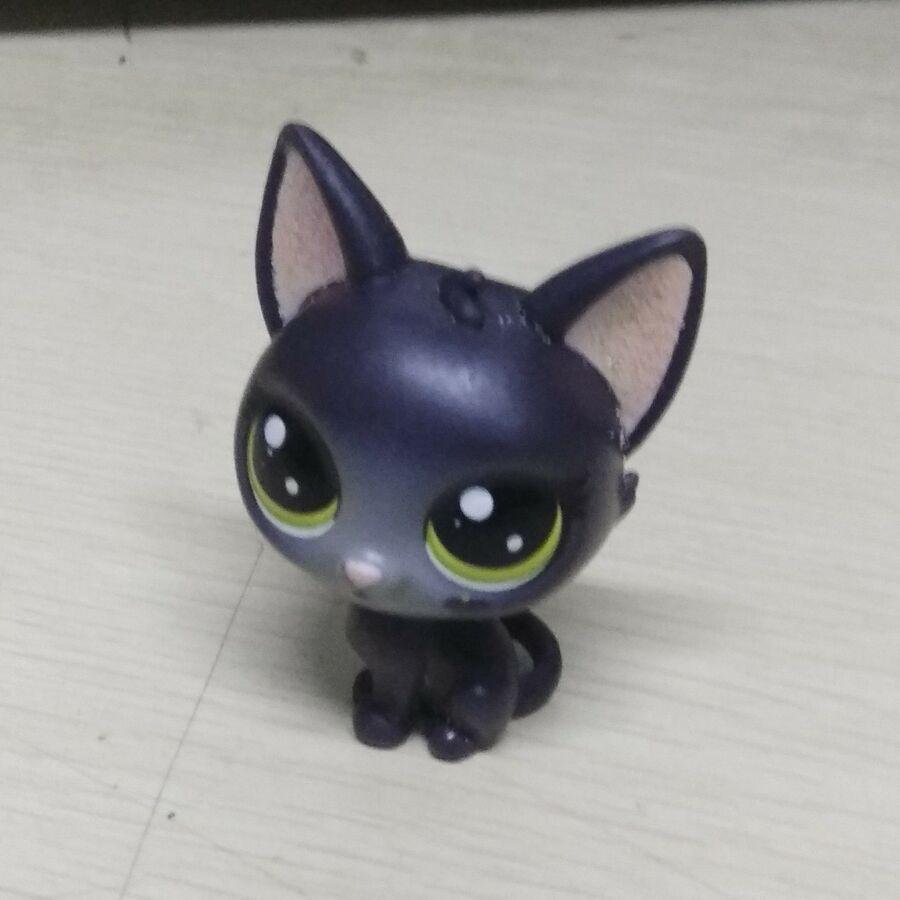 Lps Littlest Pet Shop Series 2 Lps Jade Catkin Black Glitter Cat Kitten Figure Lps Littlest Pet Shop Littlest Pet Shop Lps Pets