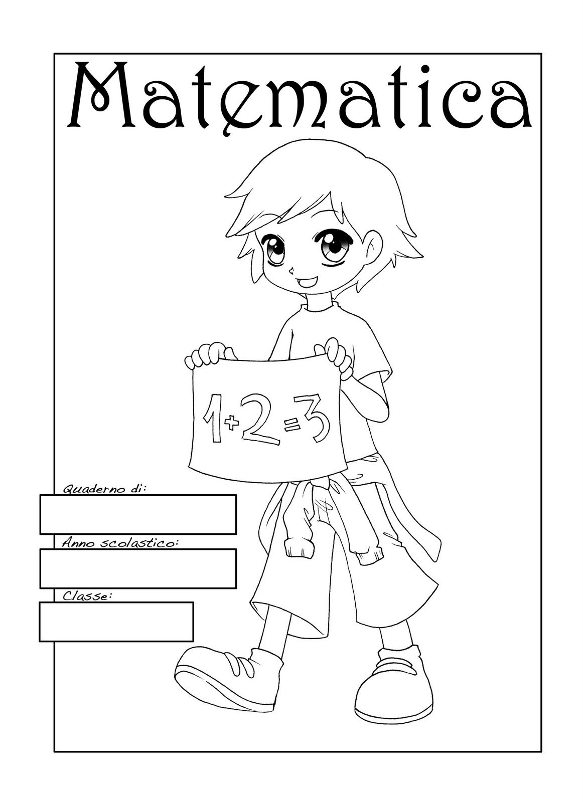 disegni da colorare per bambini delle scuole elementari