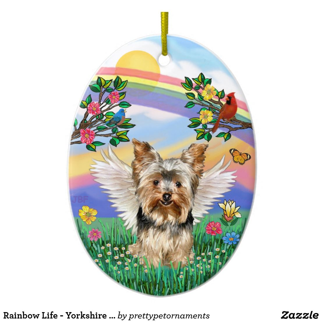 Rainbow Life Yorkshire Terrier 17 Ceramic Ornament Coco Toy