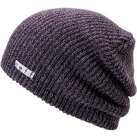053f0badb5df0 The Neff Daily slouch beanie is the best beanie in the world. This wild  style heather purple and grey Neff beanie is extra soft with a slightly  ribbed knit ...