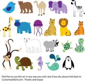 cute animals clip art vector clip art online royalty free public domain - Animals Pictures For Kids Free Download