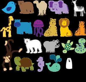 Cute Animals Clip Art Vector Clip Art Online Royalty Free Public Domain Cartoon Zoo Animals Cute Animal Clipart Noahs Ark Animals