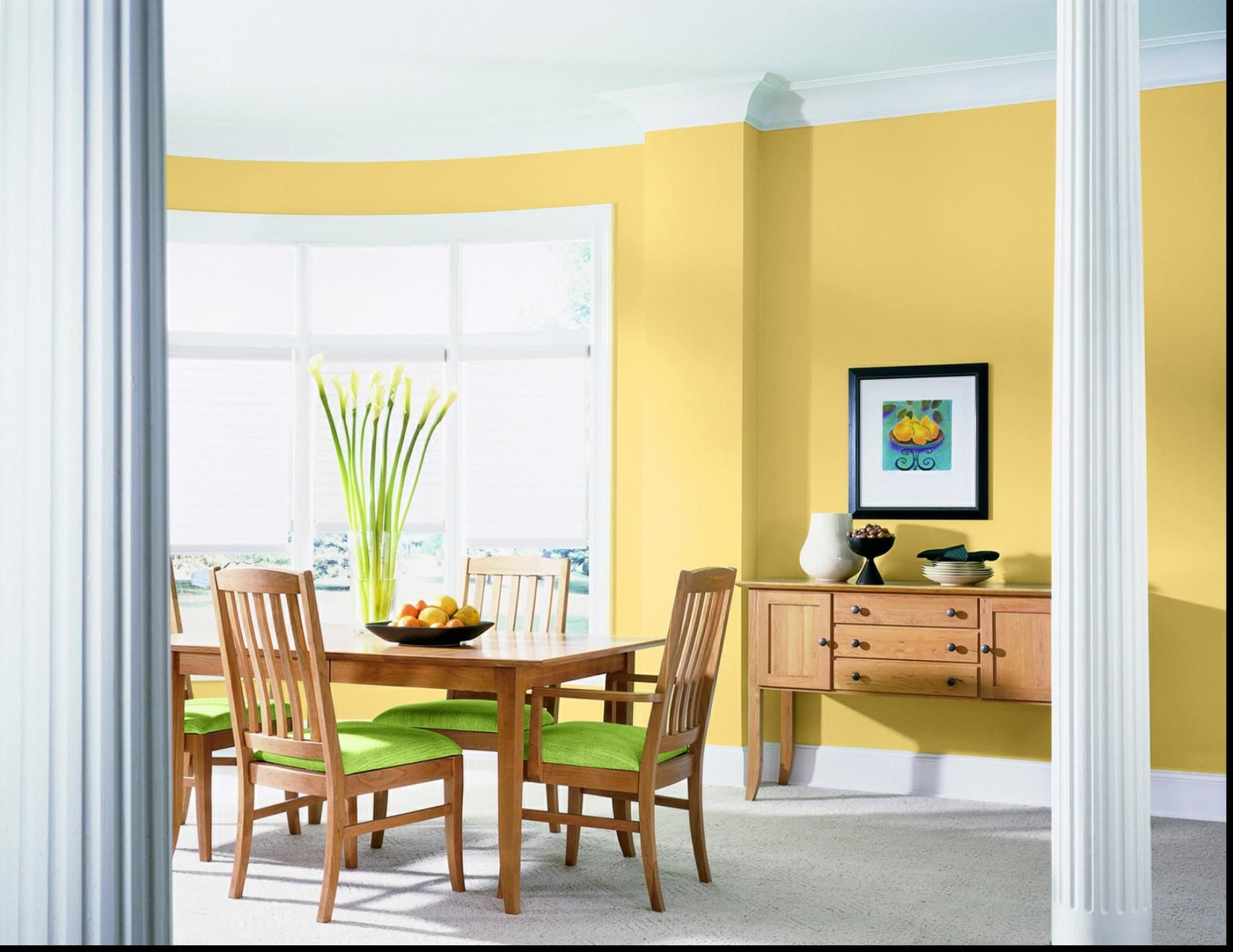 Green Yellow Living Room Impressive Interior Ideas Energic Kitchen ...