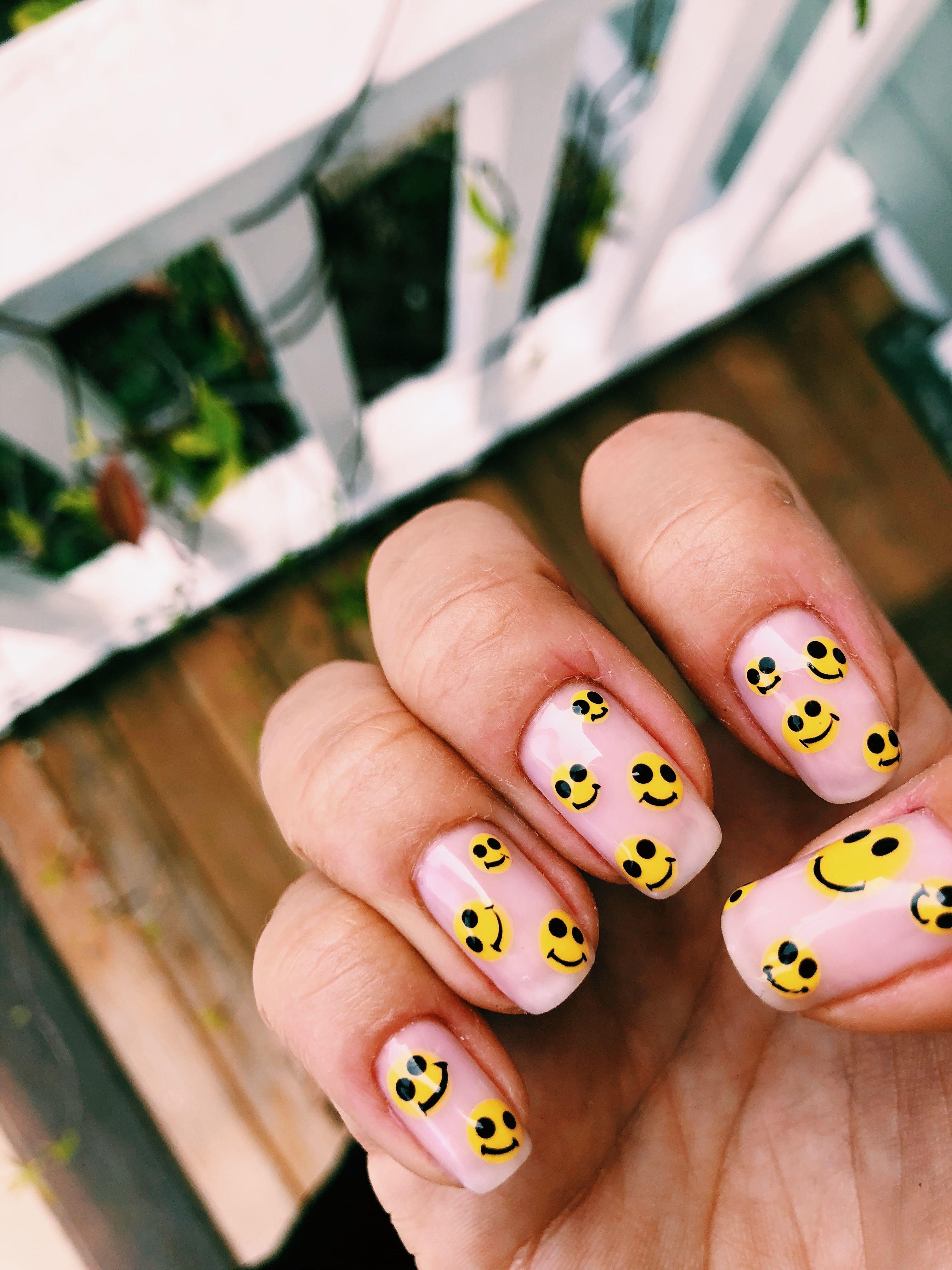 25 Funny Emoji Nail Art Designs Ideas 2019 Fashonails Whitecoffinshapednails In 2020 Nail Art For Girls Nail Art Fashion Nails
