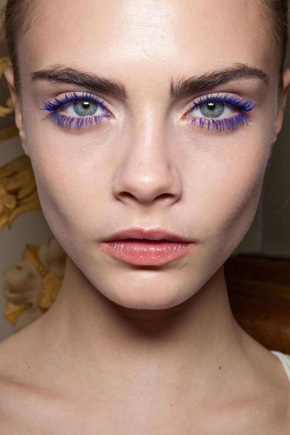 Blaue Wimperntusche Cara Delevigne At Stella Mccartney Fw12 Stuff You Smear On Your