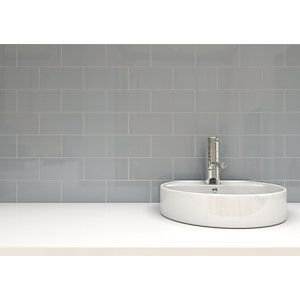 kitchen wickes cosmopolitan gloss grey ceramic wall tile 100x200mm