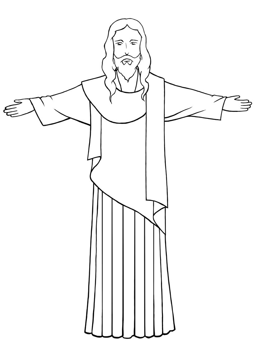 Line Drawing Jesus Christ : Draw jesus christianity trust and sketches