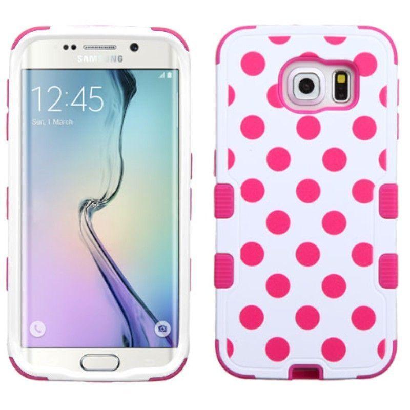 Insten Design Pattern Tuff Hard PC/ Silicone Dual Layer Hybrid Rubberized Matte Phone Case Cover For Samsung Galaxy S6 Edge