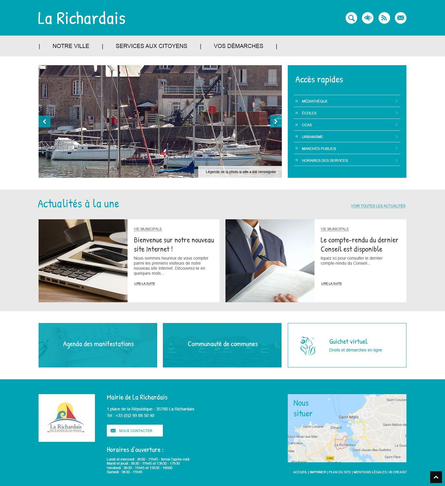 Createur De Site Internet création du site web de la commune de la richardais (35