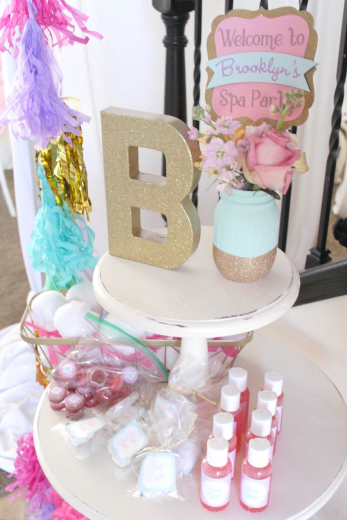 Glam Spa Retreat Birthday Party Spa Favors and Birthdays