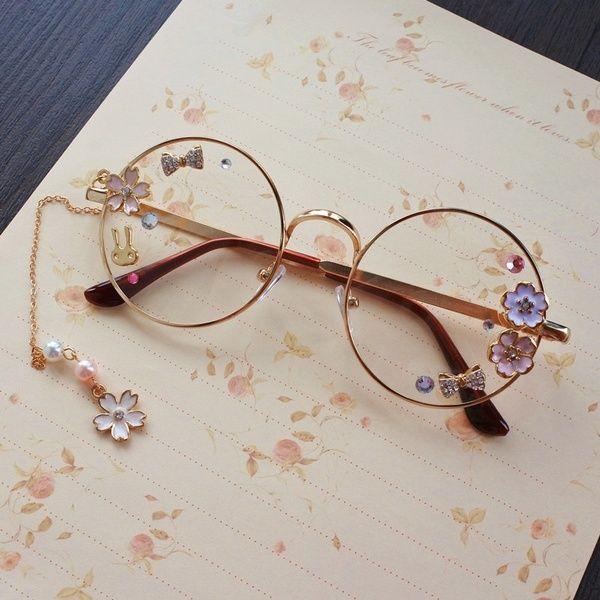 Retro Round Clear Lens Glasses Classic Mens Or Womens Metal Frame Cute glasses