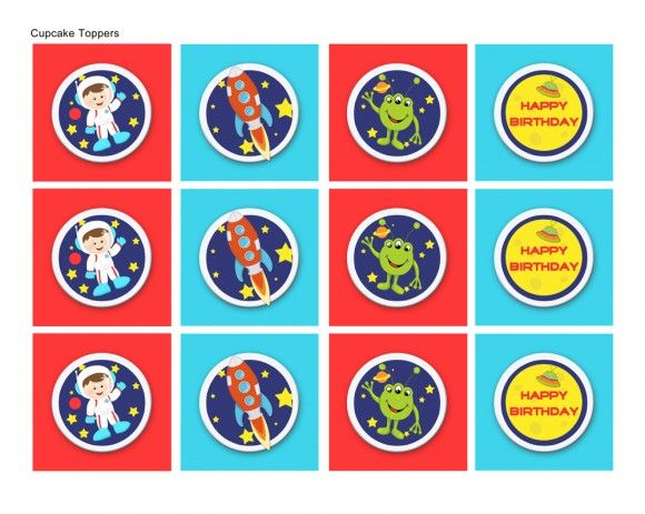 FREE Outer Space Party Printables From Lil' Monkeys