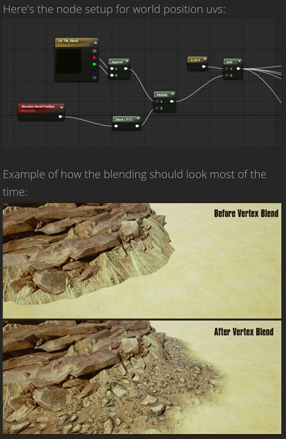 polycount bbox desert environment  vertex blending unreal engine   blender