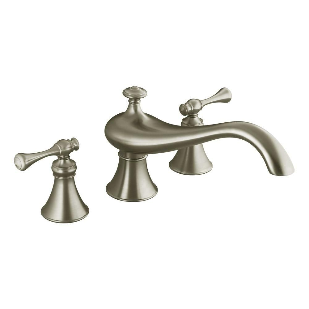 Kohler Revival 8 In Widespread 2 Handle Bathroom Faucet Trim Kit In Vibrant Brushed Nickel Valve Not Included Faucet Roman Tub Faucets Brushed Nickel Faucet