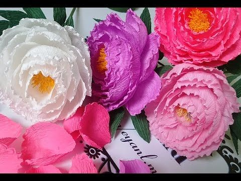 Crepe paper peony flower tutorial with template creative diy crepe paper peony flower tutorial with template creative diy youtube mightylinksfo