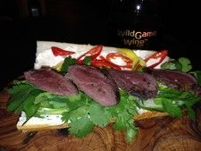 Wild Game Wine Goose Sandwich Recipe #goose, #food, #sandwich, #wine, #winepairing, #hunting, #outdoors, #cooking
