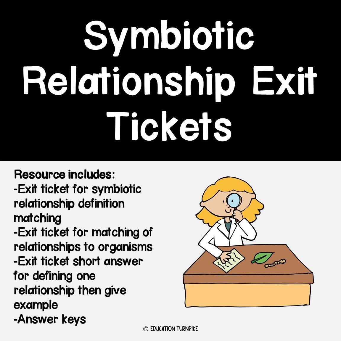 Symbiotic Relationship Exit Tickets