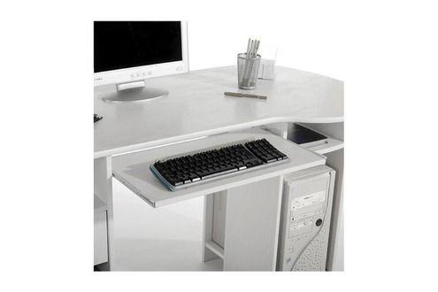 Idimex bureau multi rangements bob en pin massif lasuré blanc