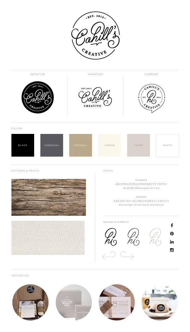 Cahill S Creative Branding Logo Design Neutral Color Palette