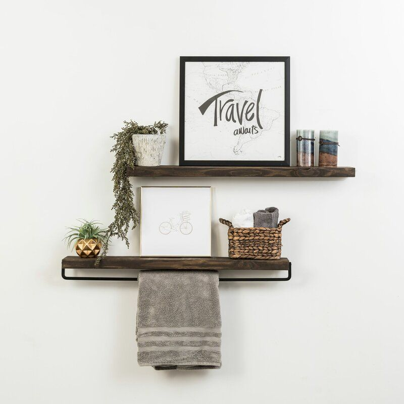 Drew 2 Piece Wall Shelf Set In 2020 Wall Shelves Shelves Industrial Wall Shelves