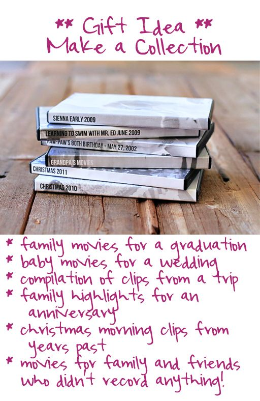 Meaningful Gift Idea Copies Of Home Movies As A Collection Via